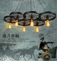 bicycle wheel art - Vintage Style Loft Edison light hotel cafe bar resturant Pendant Lamps Bicycle Wheels pendant lights E27 Vintage Light Bulb ST64 Edison Bulb