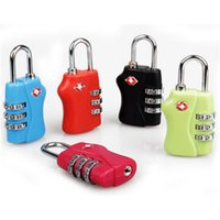 Wholesale Plastic Alloy Lock Resettable Luggage Travel Lock Digit Combination Suitcase Discount Luggage Padlock for AB040