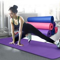 Wholesale 10mm Thick Exercise Fitness Non Slip Purple Yoga Mat Lose Weight Meditation Pad New Arrival