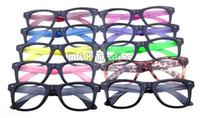 al por mayor las lentes de plástico barato-10 colores nuevo marco gafas ópticas marco plástico gafas marco negro colorido templos sin lentes baratos gafas