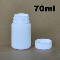 Wholesale ml g Round White HDPE Medical Bottle Capsule Bottle Sample Bottle Plastic Bottle with Aluminum Foil Pad