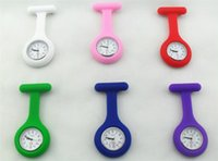 Wholesale Promotion Fashion Christmas Gifts Colorful Nurse Brooch Fob Tunic Pocket Watch Silicone Cover Nurse Watches