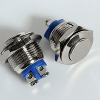 Cheap 5pcs x Stainless Momentary Push-Button OFF(ON) Switch 16BN