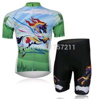 best riding horses - Horse short sleeved cycling jersey and cycle shorts set strap riding a bicycle best clothing sportswear
