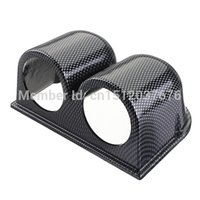 Wholesale New Universal Carbon Fiber mm Car Meter Housing Gauge Holder Pod Dual Hole order lt no track