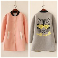 air counter s - Hitz Korean original single counter air soft wind cartoon printed cotton loose long coat female