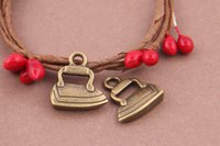antique steam irons - steam iron charm pendant mm antique bronze fit bracelet necklace diy metal jewelry making