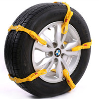 Wholesale 1pc car snow chain Yellow TPU rubber car tyre Durable nonskid Portable mm tire antiskid tool