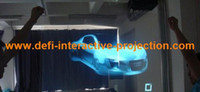advertising presentations - m m holographic transparent rear projection film for WINDOW shop advertising presentation show