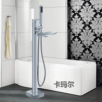 Wholesale Luxury Waterfall Spray Floor Stand Bathtubs Faucets Water Mixers Bath Crock Tap Sauna Room Sets Spa Tub Furniture Bathroom Shower Sets