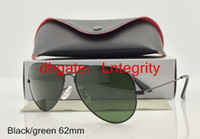Wholesale Mens Designer Sunglasses Gold Black mm Glass Lenses Eyewear Pilot Sun Glasses box