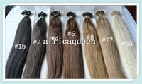 Cheap Africaqueen 100% Brazilian Human Virgin soft Remy Hair Flat-Tip Hair Extension Pre-bonded hair Extensions in stock free shipping