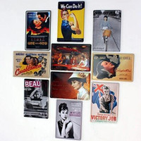 Wholesale 50pcs Vintage Tin Signs Metal Poster Painting For Home Bar Pub Metal Painting cm Mixed Order Free DHL Fedex