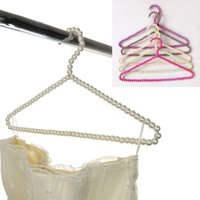 Wholesale New Color Clothes Hangers For Household Cleaning Tools Use For Pants Coats Plastic Pearl Racks