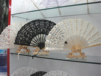lace hand fan - Bridal Wedding Formal Events Fans Wedding Fans Folding Lace Fans Handmade Plain White Hand Fans Ladies Folding Fans