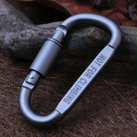 Wholesale Aluminum D Carabiner key lockable lightweight quickdraw climbing hook Deduction climbing Outdoor equipment tools and tactics