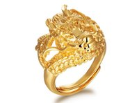 bibcock - Men forward bibcock ring Retro fashion k gold plated jewelry Adjustable KJ019