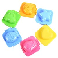 Wholesale 12 set Boiled Egg Sushi Rice Mold Bento Maker Sandwich Cutter Decorating Mould ZH085