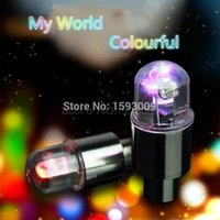 Wholesale New Hot Motor Cycling Bike Tyre Tire Valve LED Car Bicycle Wheel Lights E1