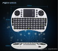 Wholesale Rii I8 Fly Air Mouse Mini Wireless Handheld Keyboard GHz Touchpad Remote Control For M8S MXQ MXIII TV BOX Mini PC new