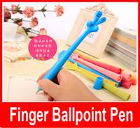 bending finger - Korean Creative stationery Creative cute cartoon ballpoint pen to bend finger gesture pen mm Models