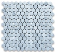 bianco white marble - 1inch tile Italy Bianco carrarra white marble tile hexagon mosaic tile wall mounted mesh marble tiles long last beauty fashion home decor