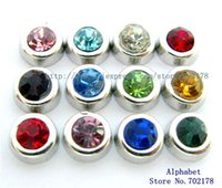 Wholesale 60pcs birthstone mix color floating locket charms fit for floating living memory locket FC181