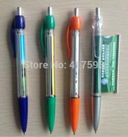 ballpen printing - custom hot promotional pull out banner pen flag pen logo advertising print both side ABS plastic ballpen