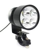Wholesale Moodeosa12V V Universal Motorcycle E bike W LED Modified Headlight Lamp Freeshipping