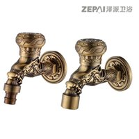 Wholesale Chak send full copper washing machine faucet into the wall thickening Chinese retro antique faucet single cold small portions