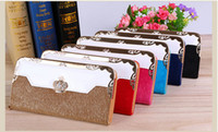 Wholesale Luxury Woman Wallets for Sale Brand Zipper Pocket Long Designer Wallet Leather Credit Card Holder High Quality Ladies Coin Purse Bag