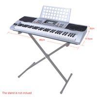 Wholesale 61 Keys Multifunctional LCD Display Digital Keyboard Electric Piano Organ with USB Music Playing Status Memory Music Holder