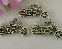 motorcycle charms - Hot sell Antique Silver Zinc Alloy Sided motorcycle Charm Pendants x mm DIY Jewelry