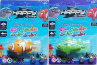 Wholesale Novelty Robo Fish and Shark Water Activated Magical Music Turbot Swimming Sharks Christmas Magic Toys Easter Gifts Free the battery