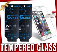 Wholesale 2016 Screen Protector Film Tempered Glass For Galaxy S6 For iPhone s plus iphone S Samsung S7 galaxy S6 iphone s Note paper package