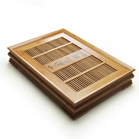 Wholesale Drawer teaberries drainage bamboo tea tray saucer tea sets solid wood tea tray tea sea Large