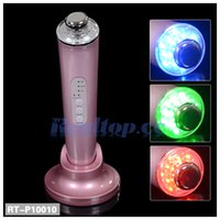 Wholesale facial beauty device Ultrasonic photon led color light MHz Ultrasonic Face Massager with Sonic Ion Skin Rejuvenation