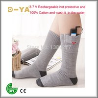 aa heating - new V AA Lithium Battery Electric Heating Sock Soft Sock Thermal For Winter Wearing Man Woman socks