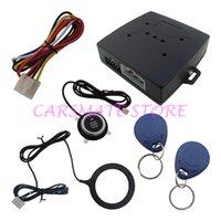 al por mayor transpondedor rfid-Motor de liberación de la alarma del coche de RFID automáticamente Botón de la buena calidad y tarjeta del transpondor Aprendizaje del sistema de alarma del código