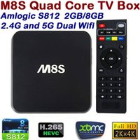 Wholesale M8S Android TV Box G G Dual band G G wifi Amlogic S812 Chip K Kodi Full HD Smart tv boxes Media Player Miracast Airplay