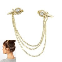 Wholesale F003 foreign trade website with headdress fashionable tassels on nest shaped hair clip