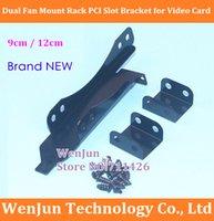 Wholesale Dual Fan Mount Rack PCI Slot Bracket for Video Card DIY Support cm cm Fan order lt no track