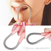 Wholesale New Face Facial Hair Spring Remover Stick Removal Threading Tool Pink T1015 W0 SYSR
