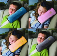Neck Pillow baby safety seats - Baby Auto Pillow Car Safety Belt Protect Shoulder Pad adjust Vehicle Seat Belt Cushion for Kids Children Security Colors