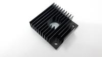 Wholesale 10Pcs x40x11mm heatsink For MK7 MK8 D printer extruder heatsink Makerbot Fitting Aluminum Anode Black