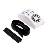 Wholesale Ivory Solar Powered Car front rear window Air Vent Cool Cooler Fan Summer Gift