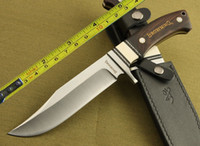 Wholesale NEW Browning Full Tang Ebony Wood Bowie Hunting Knife H18