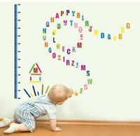 alphabet growth chart - New ALPHABET Kids Growth Chart Height Measure WALL STICKERS Kids Bedroom Toy Room Classroom Letters Decals
