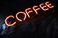 advertising coffee - Coffee neon light sign for coffee shop bar art pub decoration advertising Without Bracket Stands cm
