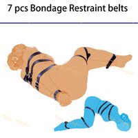 Wholesale Sex Magic PU Leather Bondage Belt Restraint Device Sex Adult Bdsm Straps Sex Furnitures For Couple Shipping Strapping Kit